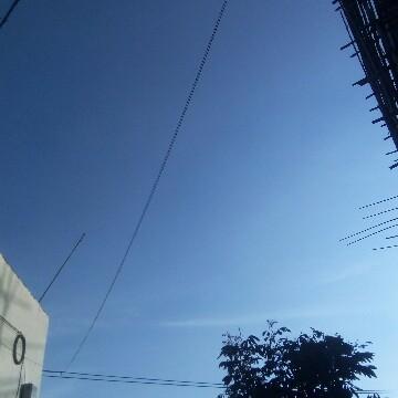 蓝蓝的天空飘白云。