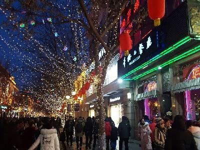 哈尔滨市,晴,-8 ℃,北风2级。