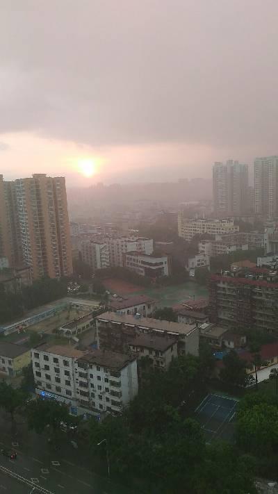西乡塘区,雨,29 ℃,西风1级。