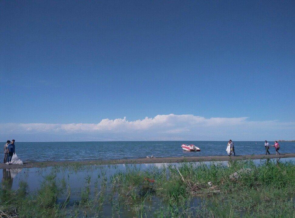 中国新疆库尔勒莲花湖旅游区博斯腾湖一隅天气预报